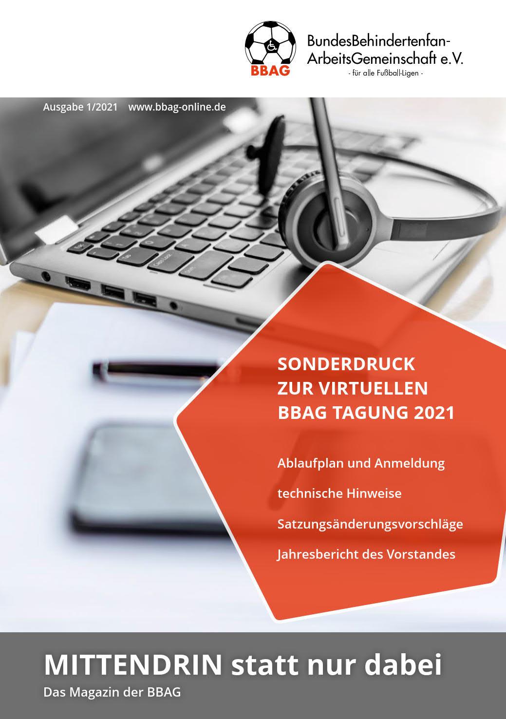 Titelseite des Sonderheftes zur JHV 2021